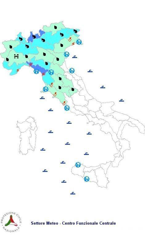 Allerta Meteo Italia Protezione Civile Sabato 10 Novembre 2012