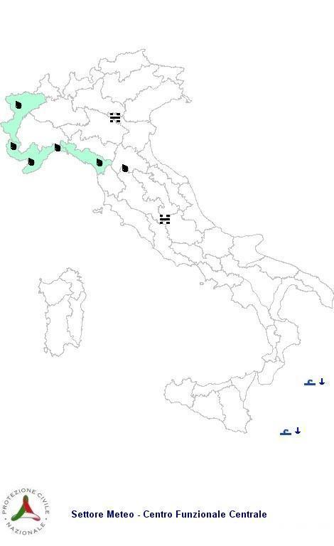 Allerta Meteo Italia Protezione Civile Venerdì 9  Novembre 2012