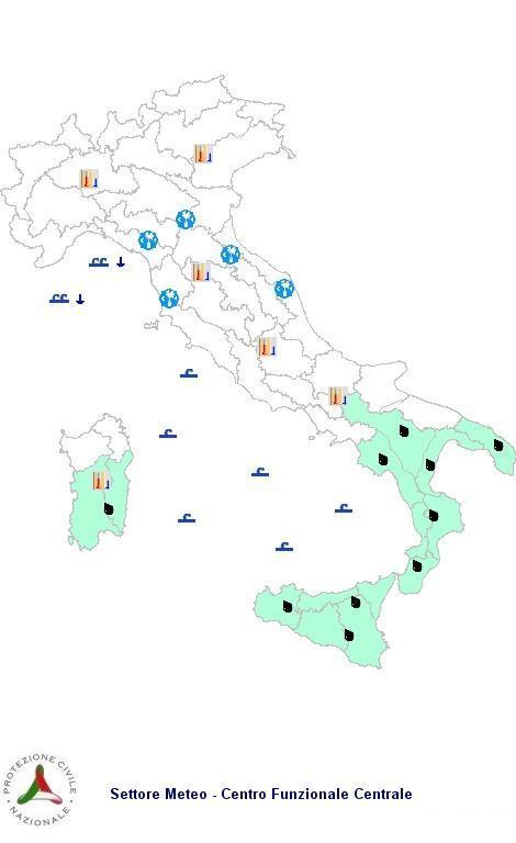 Allerta Meteo Protezione Civile  Martedì 6 Novembre 2012