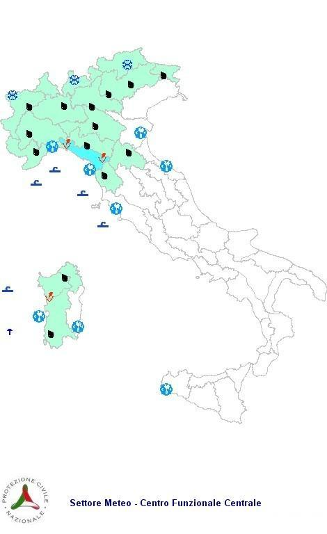 Allerta Meteo Protezione Civile Sabato 3  Novembre 2012
