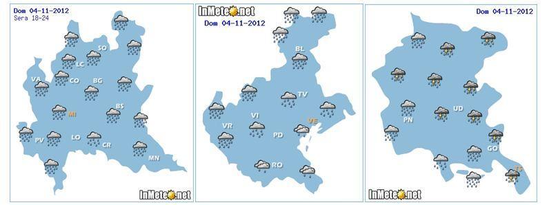 Previsioni meteo Lombardia,Veneto e friuli. Ritorna il maltempo?