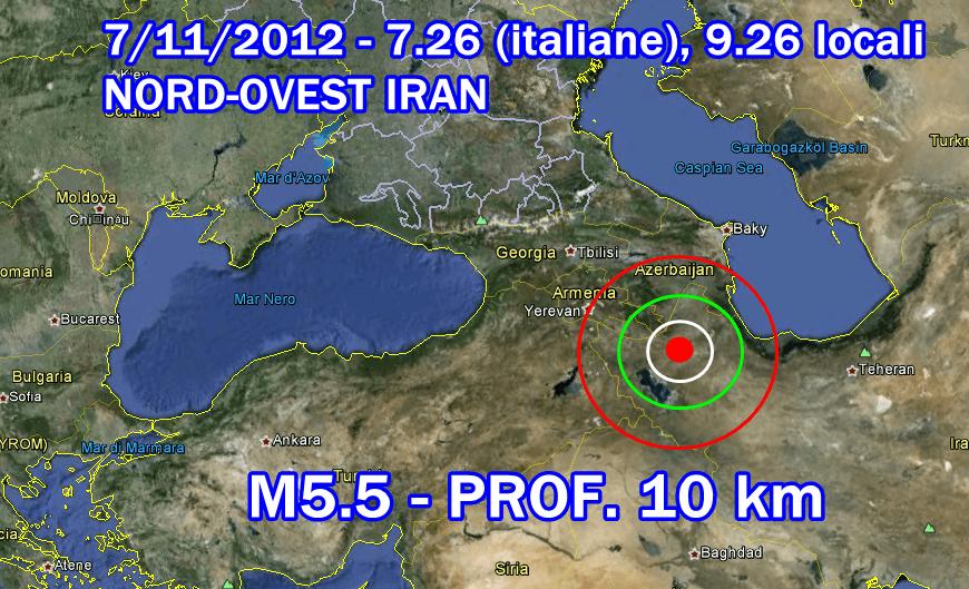 Terremoto Iran 7 Novembre 2012