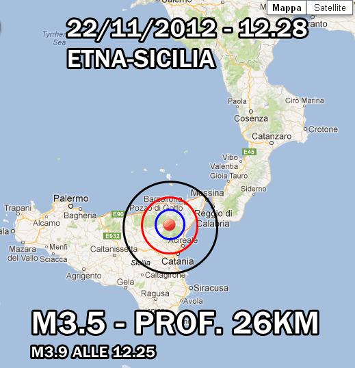 Terremoto Etna-Sicilia