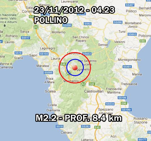 Terremoto Oggi 23 Novembre 2012