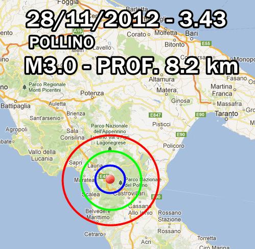 terremoto oggi 28 novembre 2012