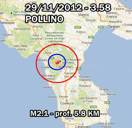 Terremoto Oggi 29 Novembre 2012