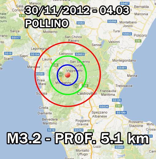 terremoto oggi 30 novembre 2012
