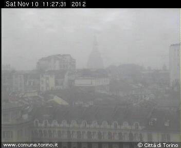 Meteo Torino, condizioni di maltempo. Webcam del Comune di Torino (comune.torino.it)