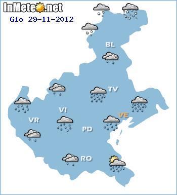Meteo Veneto Giovedì 29 Novembre 2012