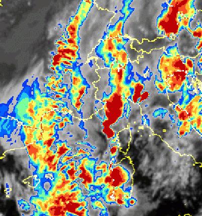 Nucleo fortemente instabile in risalita verso la Liguria