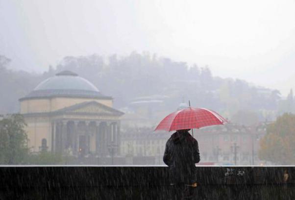 Piogge a Torino, maltempo in tutto il Piemonte (foto tmnews.it)
