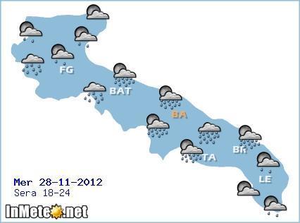 Previsioni Meteo Puglia Sera 28 Novembre 2012