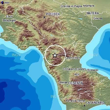 Pollino terremoto oggi 14 Novembre 2012