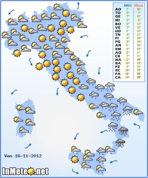 Allerta meteo maltempo Calabria Basilicata 16 Novembre 2012