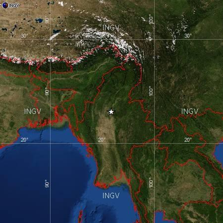 Terremoto oggi Birmania 11 Novembre 2012