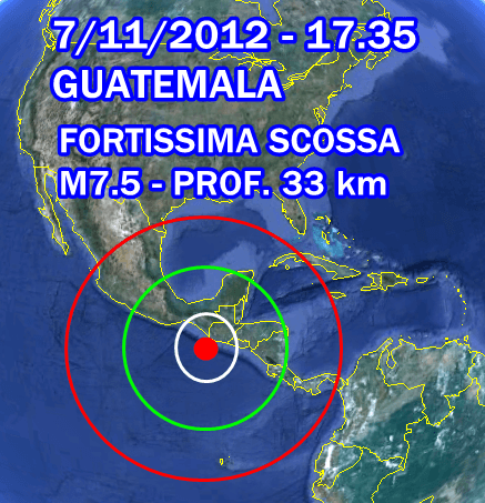 Terremoto Guatemala 7 Novembre 2012