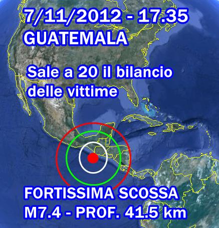 Terremoto Oggi Guatemala 7 Novembre 2012