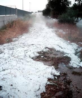 Lazio, maltempo: grandine e neve nel Viterbese