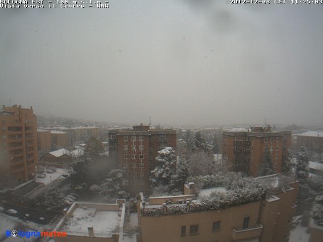 8 Dicembre 2012 neve al Nord-Est e sull' Emilia Romagna, Bologna