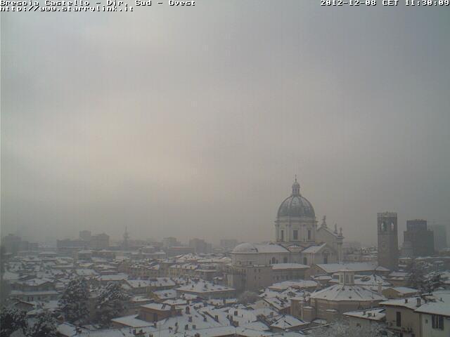 8 Dicembre 2012 neve al Nord-Est e sull' Emilia Romagna, Brescia