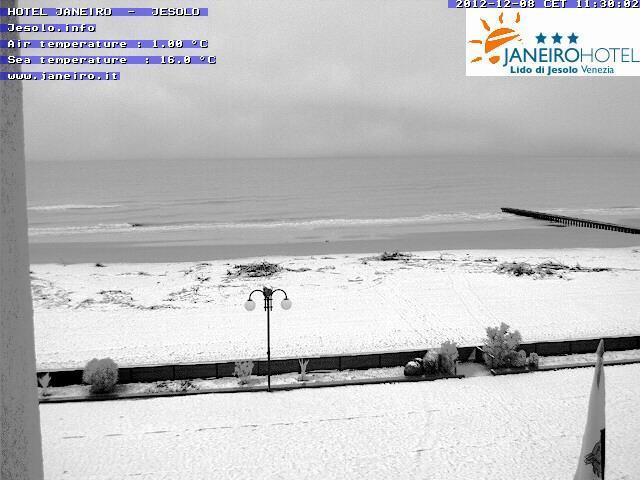 8 Dicembre 2012 neve al Nord-Est e sull' Emilia Romagna, Jesolo