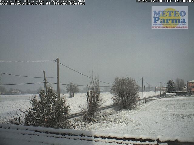8 Dicembre 2012, neve al Nord-Est e sull' Emilia Romagna, Parma