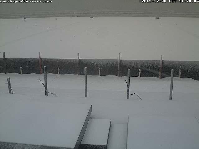 8 Dicembre 2012 neve al Nord-Est e sull' Emilia Romagna, Rimini