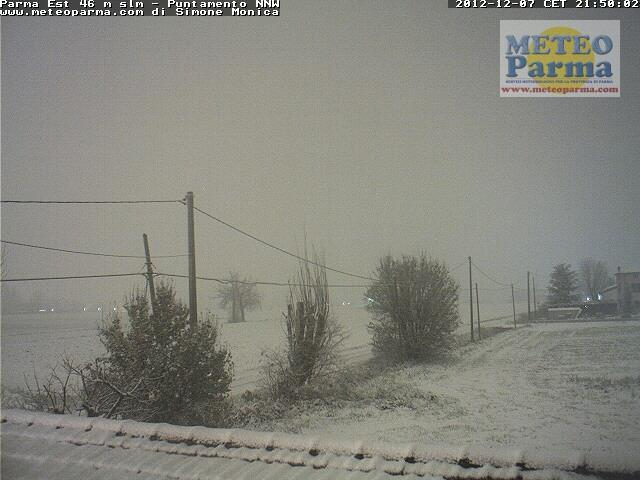 Emilia Romagna, 7 Dicembre 2012 neve sui gran parte della Regione Parma