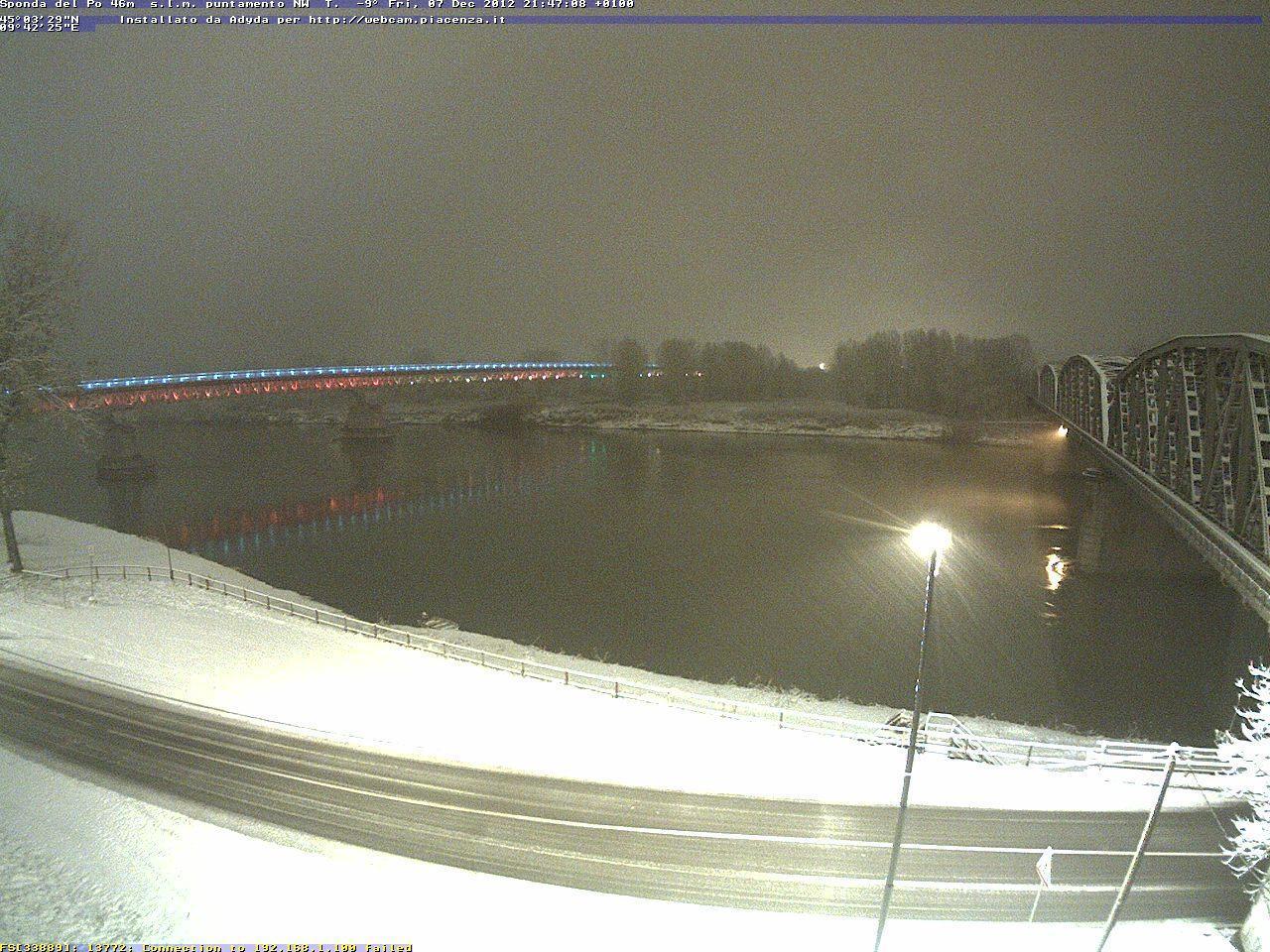Emilia Romagna, 7 Dicembre 2012, neve sui gran parte della Regione  Piacenza