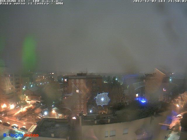 Emilia Romagna, 7 Dicembre 2012 neve sui gran parte della Regione Bologna