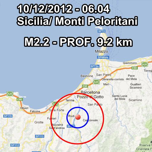 Terremoto Oggi 10 Dicembre 2012