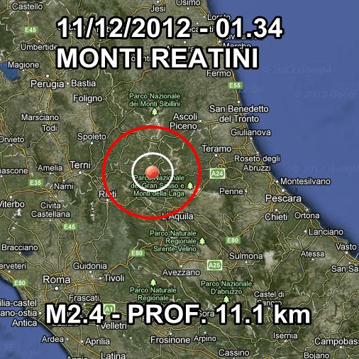 Terremoto Oggi Umbria Calabria Marche Abruzzo 11 Dicembre 2012