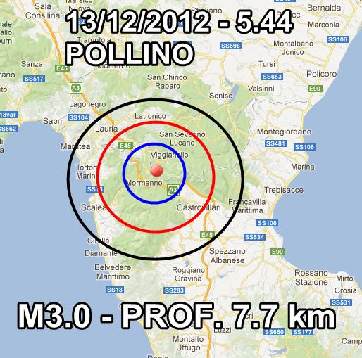 Terremoto Oggi 13 Dicembre 2012 Pollino