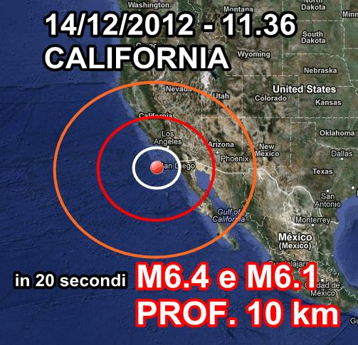 Terremoto California 14 Dicembre 2012