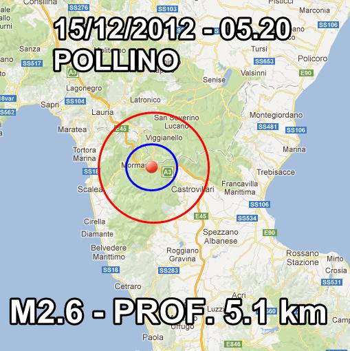 Terremoto Italia Oggi 15 Dicembre 2012