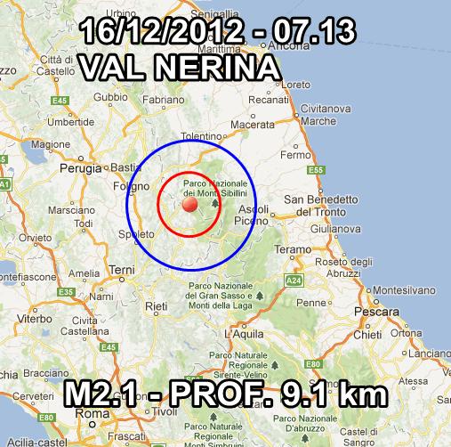 Terremoto Italia Oggi 16 Dicembre 2012