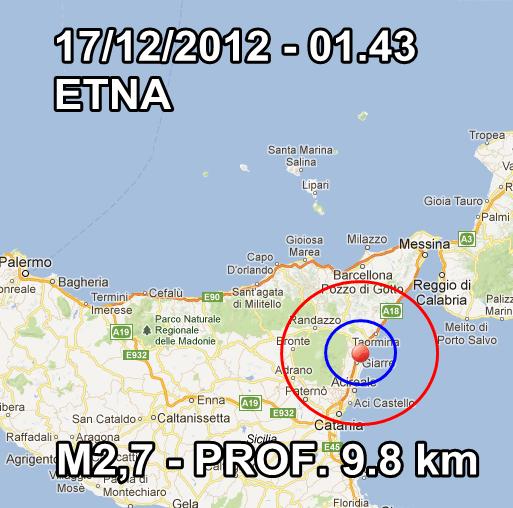 Terremoto Oggi Italia 17 Dicembre 2012