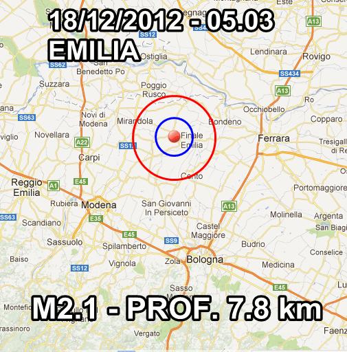 Terremoto Oggi Italia 18 Dicembre 2012