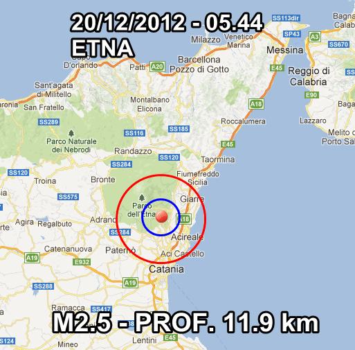 Terremoto Oggi 20 Dicembre 2012