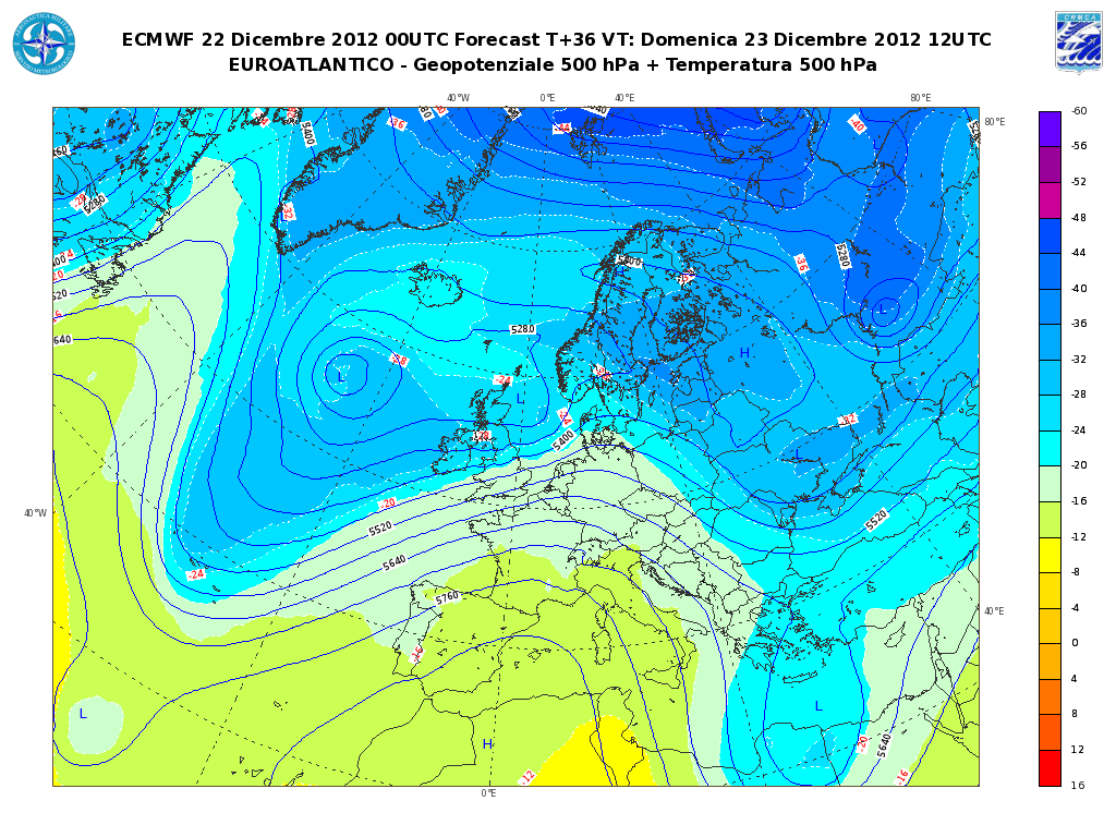 Previsioni Meteo Aeronautica Militare Domenica 23 Dicembre 2012: tempo stabile su tutta l'Italia