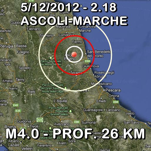 Terremoto Oggi 5 Dicembre 2012