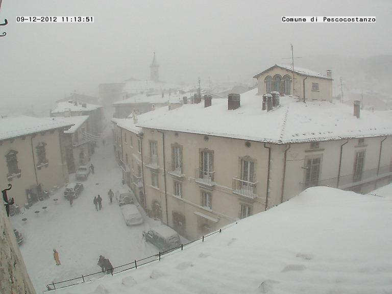 Maltempo Domenica 9 Dicembre 2012, neve su Marche ed Abruzzo Pescocostanzo