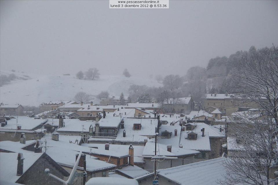Neve sull'Italia 3 Dicembre 2012