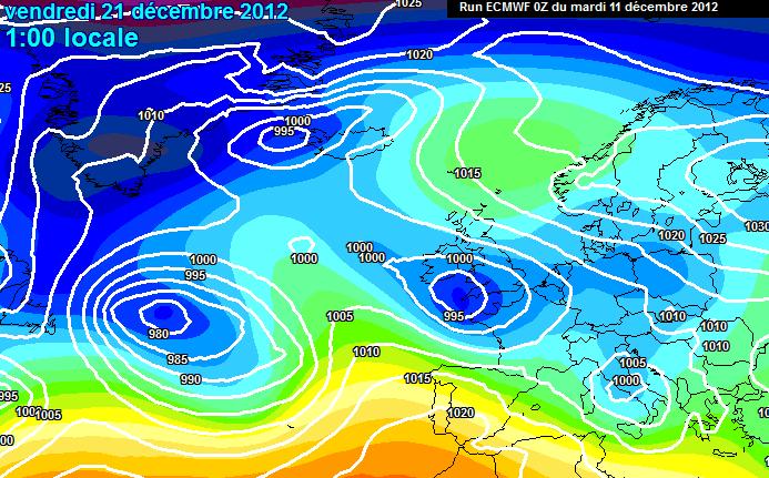 Previsioni Meteo Dicembre 2012, predominio Atlantico fino al Solstizio