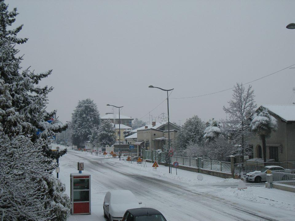Neve in Piemonte - Santhià