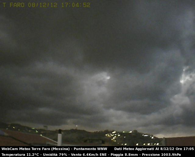 Sicilia,8 Dicembre 2012 maltempo con abbondanti piogge