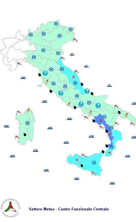 Allerta meteo protezione civile 17 Gennaio 2013: Bollettino di vigilanza e previsioni del tempo a cura della Protezione Civile.