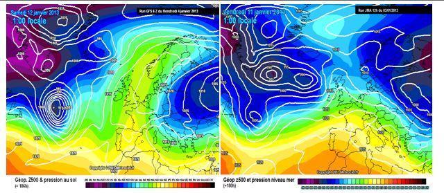 """Previsioni meteo prima metà di Gennaio 2013: possibili evoluzioni """"tipo"""" a partire dal 10 gennaio"""