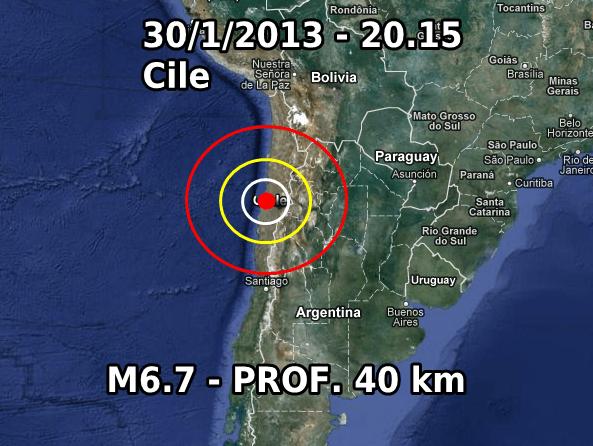 Terremoto Cile 30 Gennaio 2013