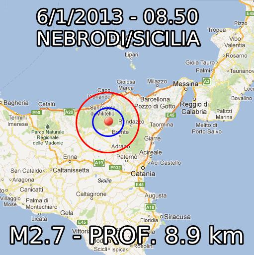 Terremoto Oggi 6 Gennaio 2013
